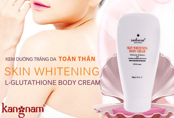 Sakura Skin Whitening I-Glutathione Body Cream Review