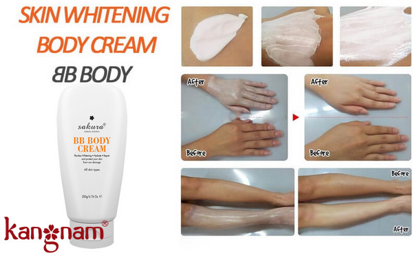 Sakura Skin Whitening Bb Body Cream